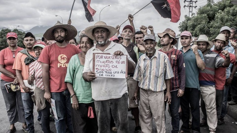 The Admirable Campesino March in a pit stop in Lara State